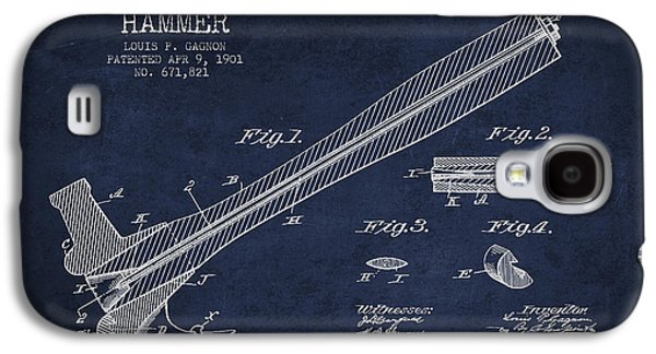 Hammer Galaxy S4 Cases - Hammer Patent Drawing from 1901 Galaxy S4 Case by Aged Pixel