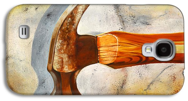 Hammer Paintings Galaxy S4 Cases - Hammered Galaxy S4 Case by Karl Melton