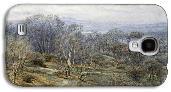 The Hills Galaxy S4 Cases - Hampstead Heath Looking Towards harrow on the Hill Galaxy S4 Case by Edith Martineau