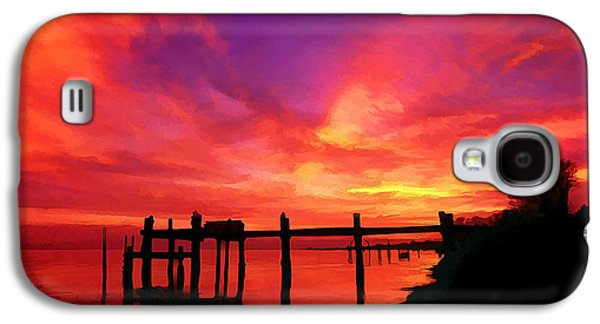Digitally Manipulated Galaxy S4 Cases - Hampton Roads Sunset Galaxy S4 Case by Bill Caldwell -        ABeautifulSky Photography