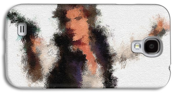 Character Portraits Galaxy S4 Cases - Han Solo Galaxy S4 Case by Miranda Sether