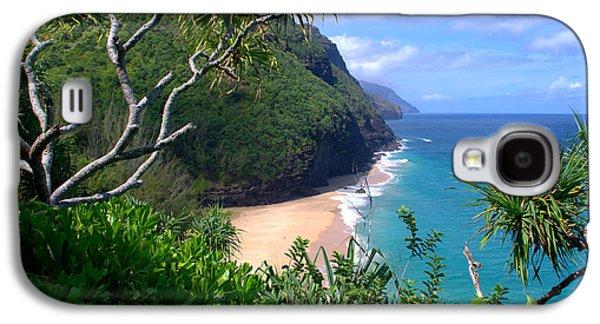 Landscapes Photographs Galaxy S4 Cases - Hanakapiai Beach Galaxy S4 Case by Brian Harig