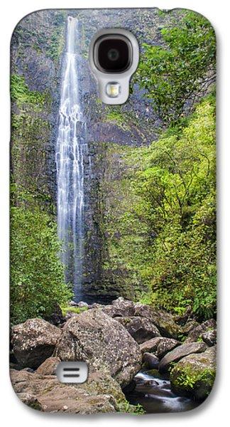 River Scenes Photographs Galaxy S4 Cases - Hanakapiai Falls - Kalalau Trail Kauai Hawaii Galaxy S4 Case by Brian Harig