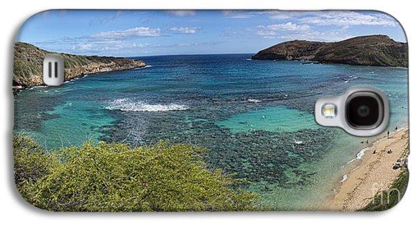 Beach Landscape Galaxy S4 Cases - Hanauma Bay Panorama Galaxy S4 Case by David Smith