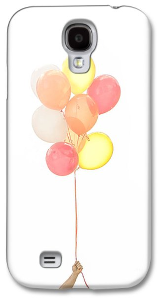Party Birthday Party Galaxy S4 Cases - Hand holding balloons Galaxy S4 Case by Diane Diederich