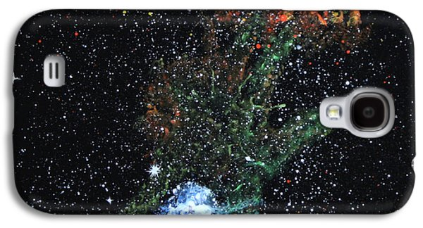 Outer Space Glass Art Galaxy S4 Cases - Hand Of God Pulsar Galaxy S4 Case by Wolfgang Finger