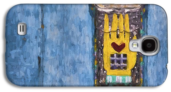 Folk Art Mixed Media Galaxy S4 Cases - Hand-Painted Mailbox Painterly Effect Galaxy S4 Case by Carol Leigh