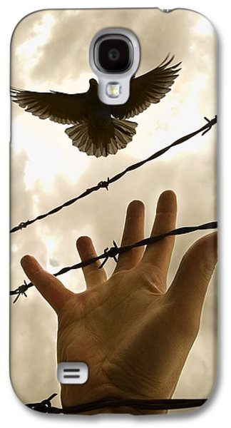 Hope And Change Galaxy S4 Cases - Hand Reaching Out For Bird Galaxy S4 Case by Nathan Lau