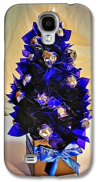 Hand Made Galaxy S4 Cases - Handmade Christmas Tree with Chocolates Galaxy S4 Case by Kaye Menner
