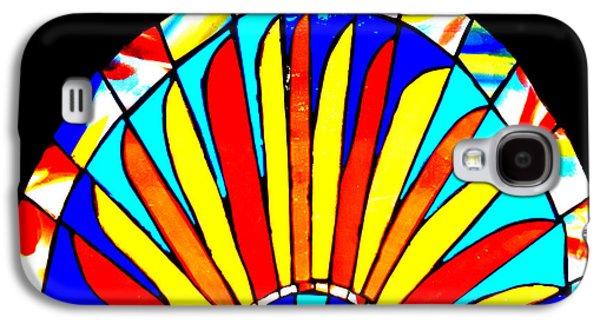 Original Art Glass Art Galaxy S4 Cases - Handmade Sun Stained Glass Galaxy S4 Case by Rebecca Tkaczyk