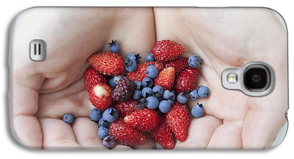 Berries Galaxy S4 Cases - Hands holding berries Galaxy S4 Case by Elena Elisseeva