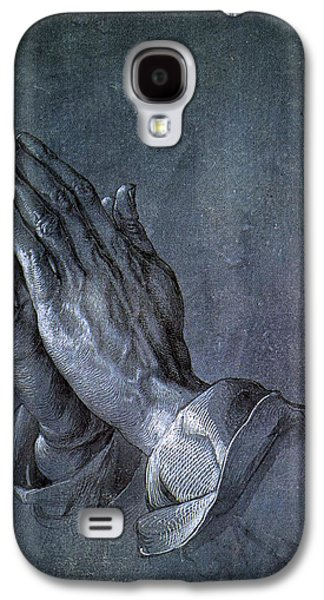 Religious Drawings Galaxy S4 Cases - Hands of an Apostle 1508 Galaxy S4 Case by Albrecht Durer