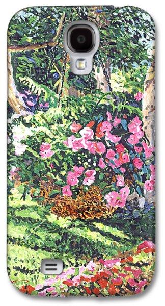 Plein Air Galaxy S4 Cases - Hanging Flower Basket Galaxy S4 Case by David Lloyd Glover