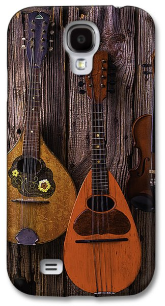 Hand Made Galaxy S4 Cases - Hanging Instruments Galaxy S4 Case by Garry Gay