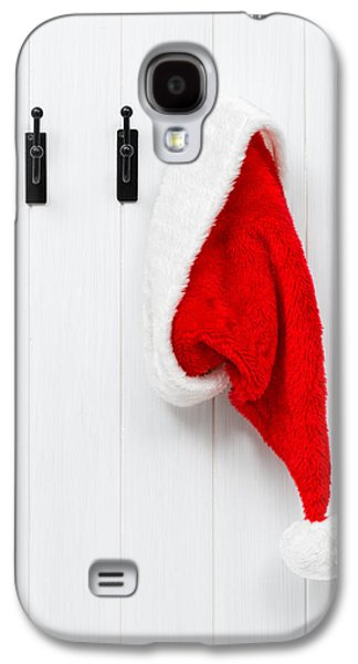 Nicholas Galaxy S4 Cases - Hanging Santa Hat Galaxy S4 Case by Amanda And Christopher Elwell