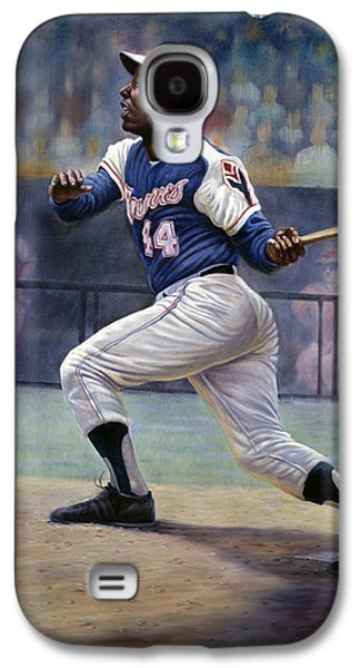 African-american Mixed Media Galaxy S4 Cases - Hank Aaron Galaxy S4 Case by Gregory Perillo
