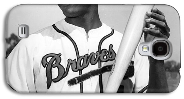 Hank Aaron Poster Galaxy S4 Case by Gianfranco Weiss