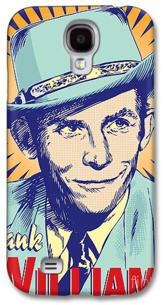 Hank Williams Pop Art Galaxy S4 Case by Jim Zahniser