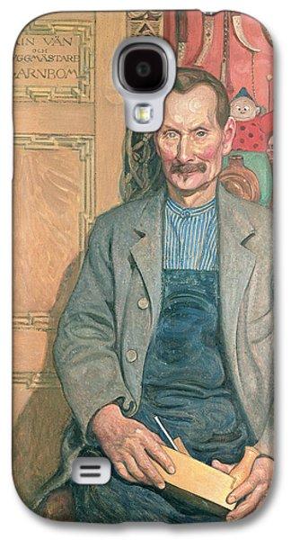 Mustache Galaxy S4 Cases - Hans Arnbom The Carpenter Galaxy S4 Case by Carl Larsson