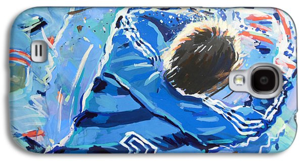 Goalkeeper Paintings Galaxy S4 Cases - Hans van Breukelen EK 88 Galaxy S4 Case by Lucia Hoogervorst