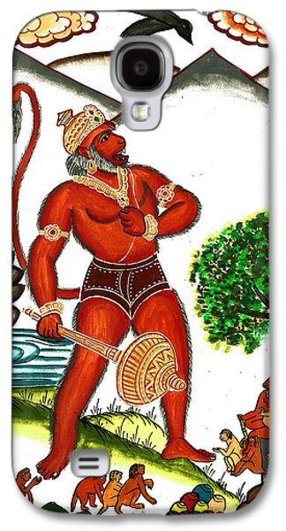 Incarnation Paintings Galaxy S4 Cases - Hanuman Galaxy S4 Case by Ashok Kumar