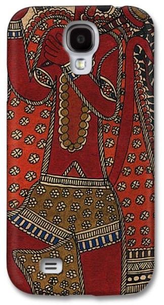 Indian Tapestries - Textiles Galaxy S4 Cases - Hanuman Galaxy S4 Case by Pallavi
