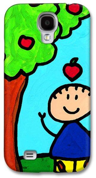 Figures Mixed Media Galaxy S4 Cases - Happi Arti 6 - Sir Isaac Newton Art  Galaxy S4 Case by Sharon Cummings