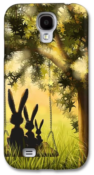 Digital Paintings Galaxy S4 Cases - Happily together Galaxy S4 Case by Veronica Minozzi