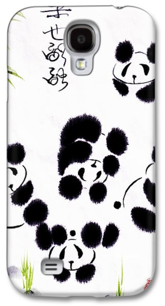 Ink Paintings Galaxy S4 Cases - Happiness Is Getting Along Galaxy S4 Case by Oiyee  At Oystudio