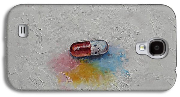 Pill Galaxy S4 Cases - Happiness Galaxy S4 Case by Michael Creese