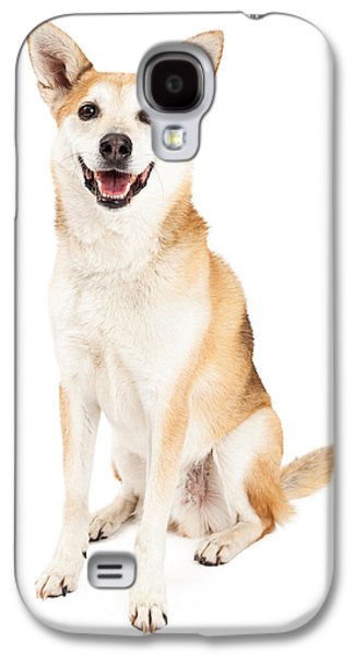 Cattle Dog Galaxy S4 Cases - Happy Australian Cattle Dog and Shiba Inu Mix Galaxy S4 Case by Susan  Schmitz