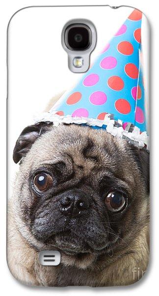 Studio Photographs Galaxy S4 Cases - Happy Birthday Pug Card Galaxy S4 Case by Edward Fielding