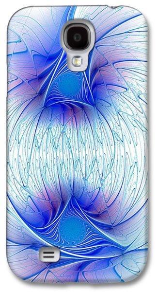 Happy Blue Lights Galaxy S4 Case by Anastasiya Malakhova