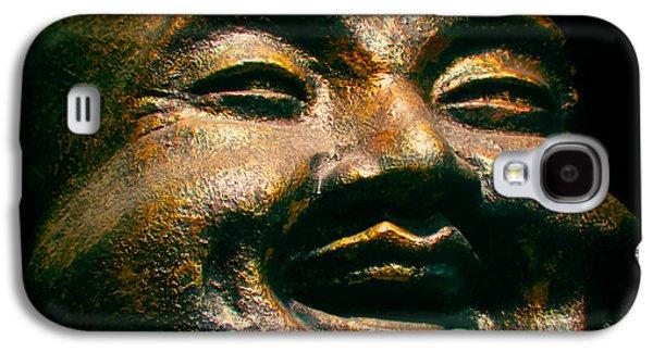 Statue Portrait Galaxy S4 Cases - Happy Buddha Galaxy S4 Case by Mark Miller