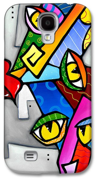 Modern Abstract Drawings Galaxy S4 Cases - Happy by Fidostudio Galaxy S4 Case by Tom Fedro - Fidostudio