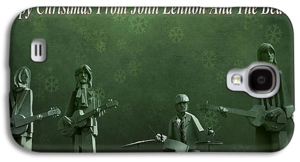 Beatles Galaxy S4 Cases - Happy Christmas From John Lennon Galaxy S4 Case by Dan Sproul