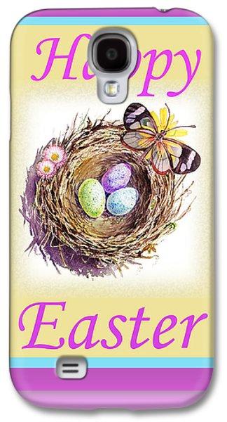 Great Birds Galaxy S4 Cases - Happy Easter Happy Nest Galaxy S4 Case by Irina Sztukowski
