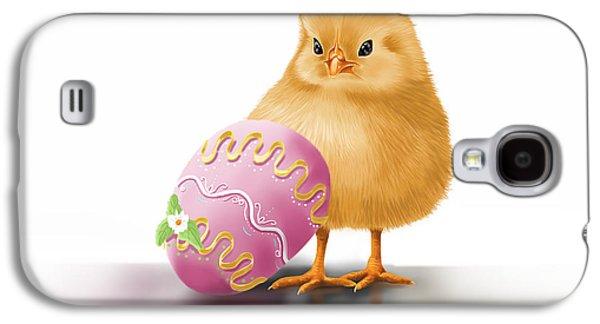 Digital Galaxy S4 Cases - Happy Easter Galaxy S4 Case by Veronica Minozzi