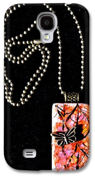 Abstracts Jewelry Galaxy S4 Cases - Happy Family Domino Pendant Galaxy S4 Case by Beverley Harper Tinsley