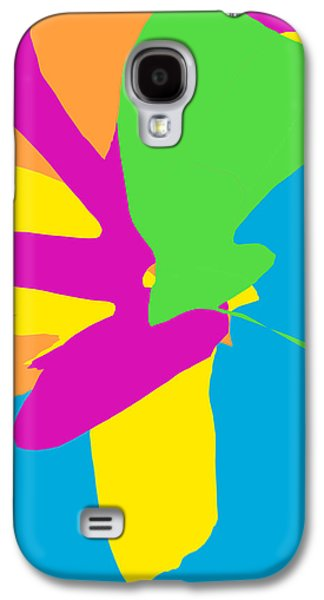 At Poster Mixed Media Galaxy S4 Cases - Happy Flowers Galaxy S4 Case by Rjf at beautifullart   Friedenthal