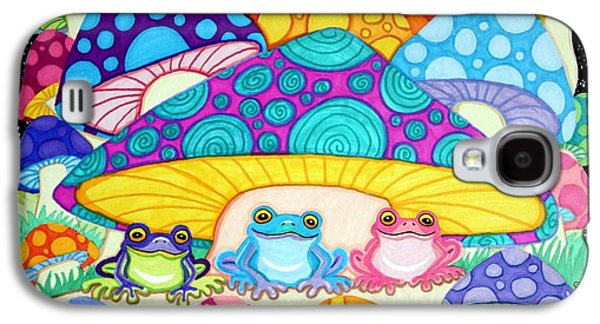 Happy Frogs In The Starlight  Galaxy S4 Case by Nick Gustafson