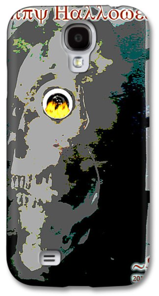 Painter Photo Mixed Media Galaxy S4 Cases - Happy Halloween 2013 Galaxy S4 Case by Jimi Bush