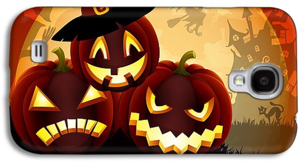 Halloween Digital Art Galaxy S4 Cases - Happy Halloween Galaxy S4 Case by Gianfranco Weiss
