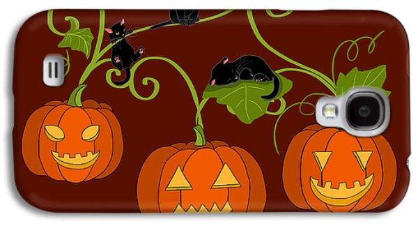 Halloween Digital Galaxy S4 Cases - Happy Halloween Galaxy S4 Case by Veronica Minozzi