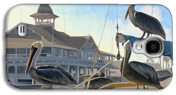 Harbor Paintings Galaxy S4 Cases - Happy Hour Galaxy S4 Case by Steve Simon