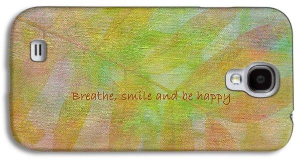 Healing Posters Galaxy S4 Cases - Happy Mantra Galaxy S4 Case by Irina Wardas