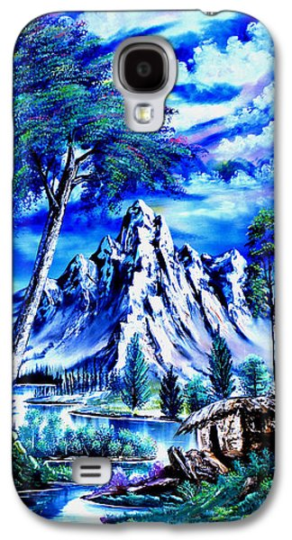 Bob Ross Paintings Galaxy S4 Cases - Happy Mountain  Galaxy S4 Case by Shirwan Ahmed