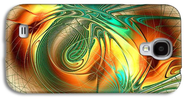 Look Galaxy S4 Cases - Happy Orange Galaxy S4 Case by Anastasiya Malakhova