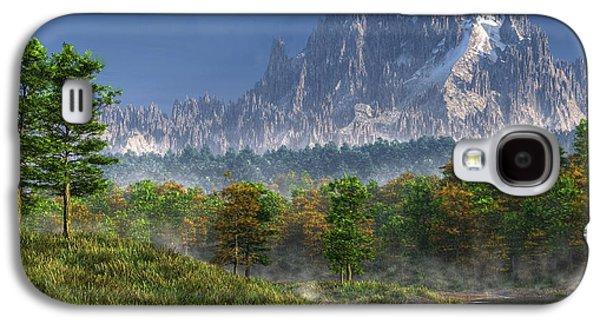 Bob Ross Galaxy S4 Cases - Happy River Valley Galaxy S4 Case by Daniel Eskridge