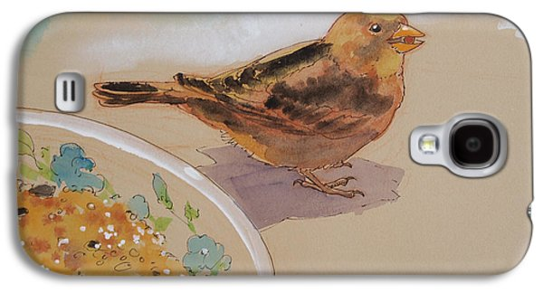 Animals Mixed Media Galaxy S4 Cases - Happy Sparrow Two Galaxy S4 Case by Tracie Thompson